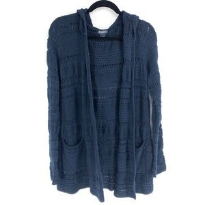 Lucky Brand Navy Newport Open Front Knit Cardigan